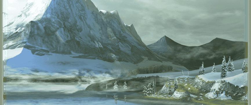雪山のヴィジュアル